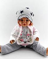 Трикотажная шапка двойная детская и подростковая 52-58р