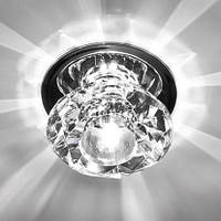 Декоративный светильник с кристаллом (типа JD80/S) 20W G4 прозрачный хром