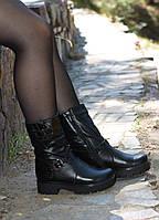 Ботинки на утолщенной тракторной подошве