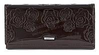Лаковый женский кошелек классика с качественной эко кожи COSSROLL art. B121-9813-3 коричневый