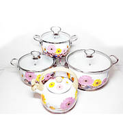Набор Эмалированной Посуды  4 пр А-Плюс 3472