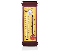 Настенный барометр гете Bratfishing + термометр + гигрометр /28см