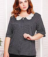 Женская блузка в мелкий горох для полных (Бэрриtn)