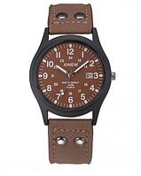 Мужские аналоговые часы в коричневом цвете
