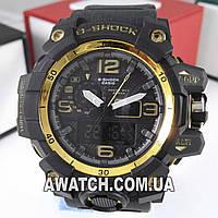 Мужские кварцевые наручные часы G-Shock GWG-1000 5463 / Касио на каучуковом ремешке черного цвета