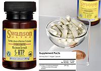 Swanson, 5-HTP (Гидрокситриптофан), 200 мг, 60 капсул