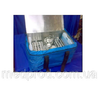 Сумка-холодильник 8 л медицинский термобокс металлический с 2-мя хладоэлементами в чехле