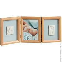 Набор Для Отпечатков Baby Art My Baby Touch Wooden Double Frame Honey (34120172)