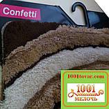 """Набір килимків з 3-х штук """"Confetti"""" в ванну 100х60 див., туалет 50х60 см з вирізом і 50х60 см БЕЗ вирізу, фото 3"""
