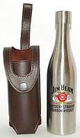 Фляга 2 в 1 в форме бутылки в чехле Jim Beam