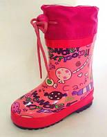 Резиновые утепленные сапоги для девочки Tom.m  Размеры: 23 - 28