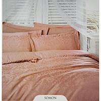 Евро комплект постельного белья Deco Bianca, Somon,  жаккардовый сатин, Турция