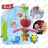 Музыкальный мобиль для малыша Мой Сад 2 в 1