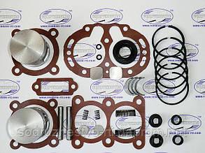 Ремкомплект компрессора ЗиЛ / Т-150 / КамАЗ ремонт Р-2 (полный комплект+палец+седла)