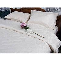 Евро комплект постельного белья Deco Bianca, Ecru, жаккардовый сатин, Турция