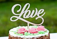 Топпер на торт LOVE