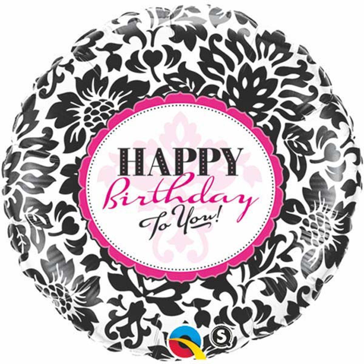 3202-0082 Фольгированный шар Happy birthday 46см
