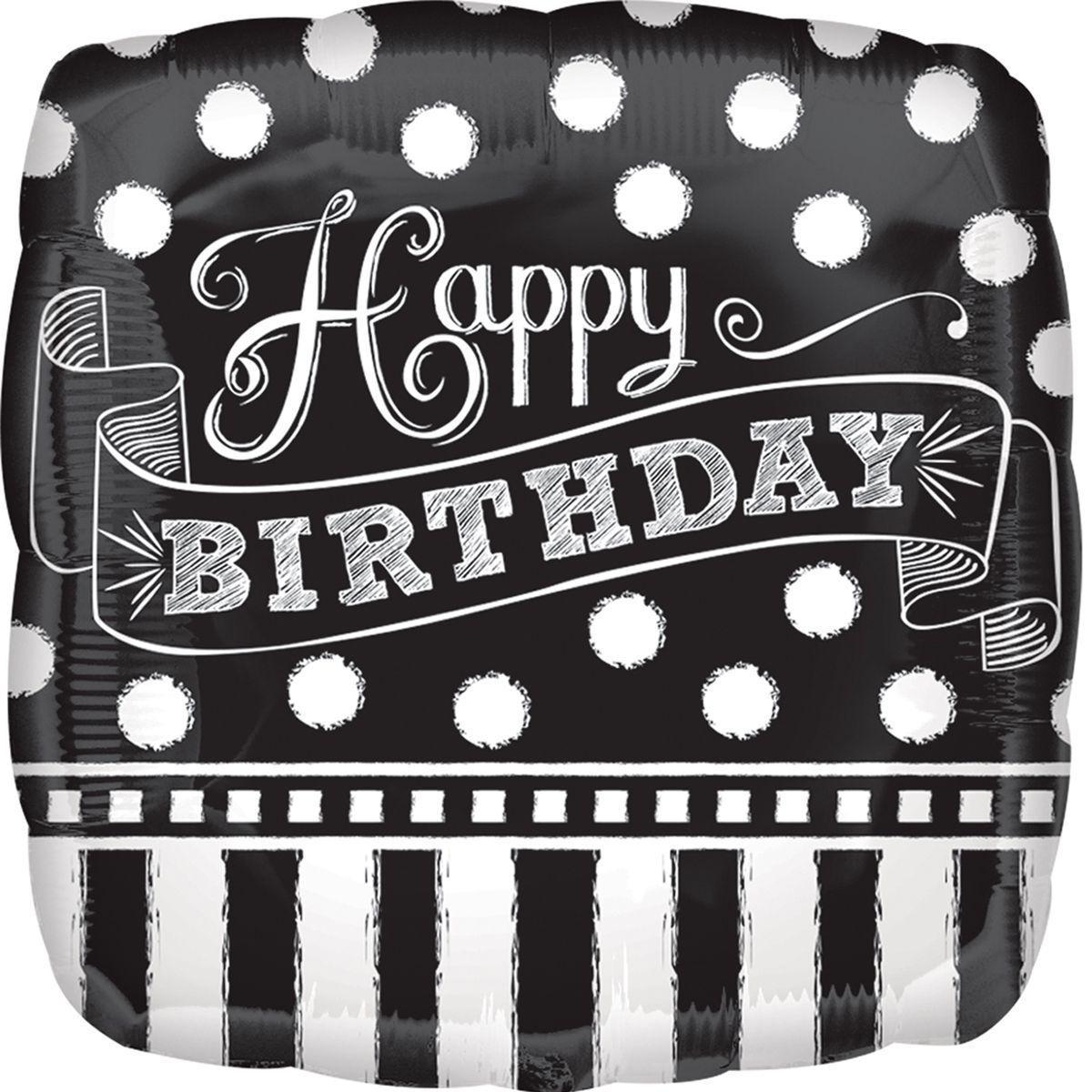 Фольгований куля Happy birthday 46см (гелій)