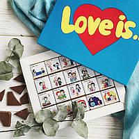 Шоколадный набор LOVE IS... 20 шоколадок