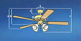 Стельовий вентилятор BENDAN 132 см + пульт, фото 3