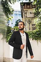 Пиджак мужской чёрный, на пуговицах. 6 цветов. Р-Ры: 46,48,50,52.