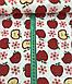 Хлопковая ткань польская яблоки красные на белом №599, фото 2