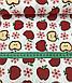 Хлопковая ткань польская яблоки красные на белом №599, фото 3