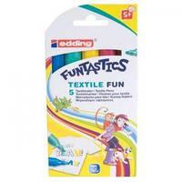 Фломастеры для текстиля ткани Edding Funtastics E-17/5 S (E-17/5 S x 128395)
