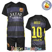 Футбольная форма Месси Тёмного цвета для мальчиков Размеры: от 6 до 10 лет