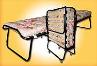 Кровать складная Стэлс  с матрасом, на колёсах (1900х800х400) мм.