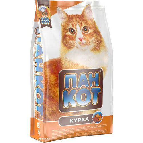 Пан Кот Курица, корм для кошек, 10кг, фото 2