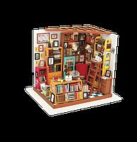 Robotime Набор для творчества Мини-интерьерная модель «Библиотека»
