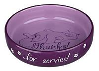 24795 Trixie Thanks for Service миска керамическая для коротконосых пород, коричневый