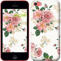 """Чехол на iPhone 5c цветочные обои v1 """"2293c-23-4848"""""""