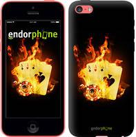 """Чехол на iPhone 5c Горящие карты """"839c-23-4848"""""""