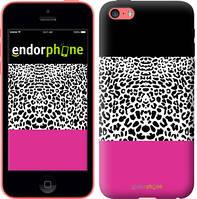 """Чехол на iPhone 5c Шкура леопарда v3 """"2723c-23-4848"""""""