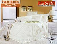 La Scala 3D-090 жаккард шелковый с шелковой вышивкой (Полуторный 160*220)