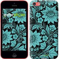 "Чехол на iPhone 5c Бирюзовая хохлома ""1093c-23-4848"""