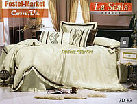 La Scala 3D-083 жаккард шелковый с шелковой вышивкой (Полуторный 160*220)