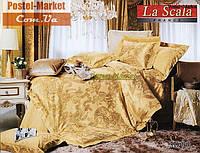 La Scala 3D-099 жаккард шелковый с шелковой вышивкой (Семейный 160*220)