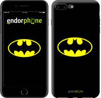 """Чехол на iPhone 7 Plus Бетмен логотип """"3201c-337-4848"""""""