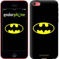 """Чехол на iPhone 5c Бетмен логотип """"3201c-23-4848"""""""