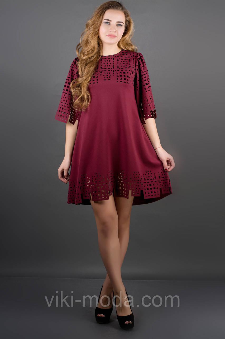 Сукня Айві (бордовий)
