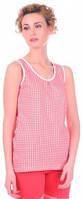 Комплект женский Miss First Cella майка и шорты красный L