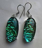 """Экзотические серьги с аммолитом """"Крыло бабочки"""", размер 18 от Студии  www.LadyStyle.Biz, фото 1"""