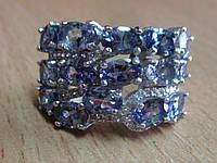 """Богатое кольцо  с танзанитами  """"Шик"""" , размер 18 от студии LadyStyle.Biz, фото 1"""