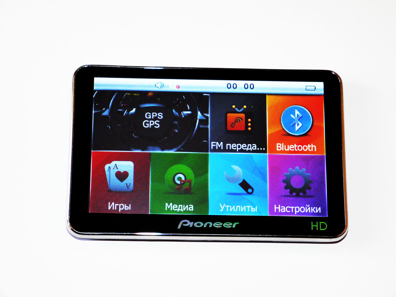 "5"" GPS навигатор Pioneer HD - 4Gb+FM"