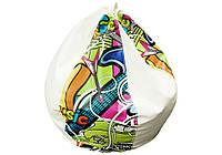 Кресло-груша БАББЛ с принтом граффити Матролюк