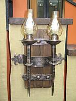 Двойной кованый светильник