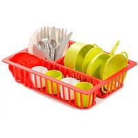 Набор детской посудки Ecoiffier с сушилкой (606)